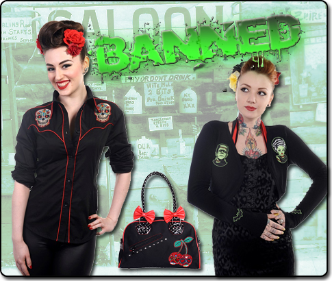 New clothing and accessories now available from Banned Alternative Wear