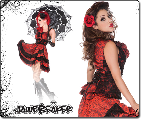 Looking for the latest gothic, punk and steampunk clothing and accessories, check out the Jawbreaker range here