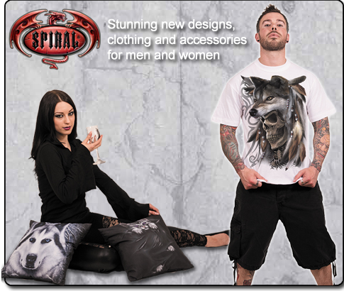 stunning new designs, clothing and accessories for men and women from Spiral